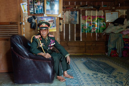 Colonel Thoong Say, Laos 2012     © Halina Hildebrand